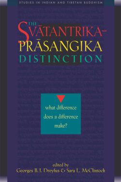 The Svātantrika-Prāsaṅgika Distinction