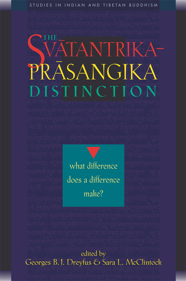 The Svātantrika-Prāsaṅgika Distinction