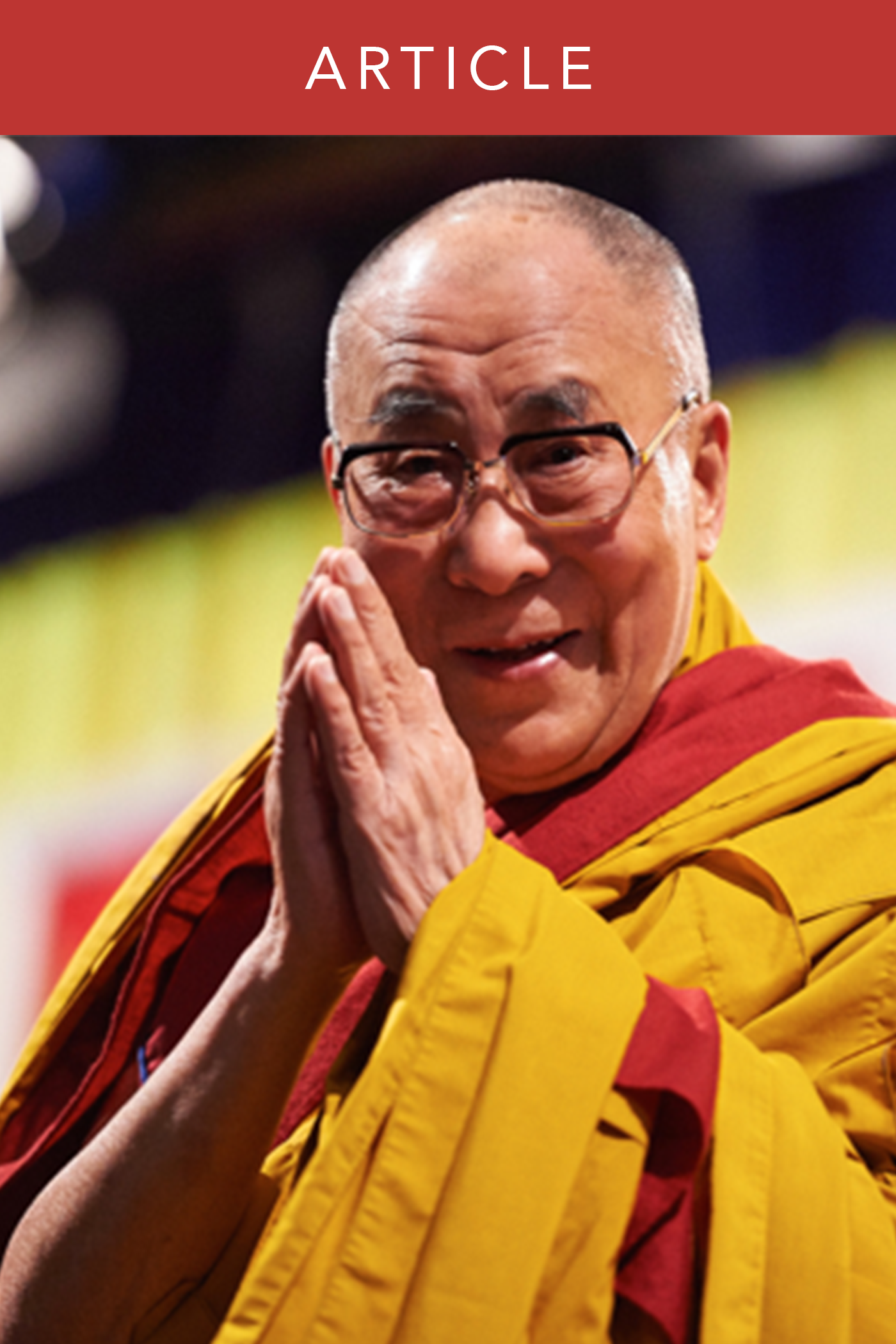 The Dalai Lama Reflects on Faith in Buddhism and Christianity