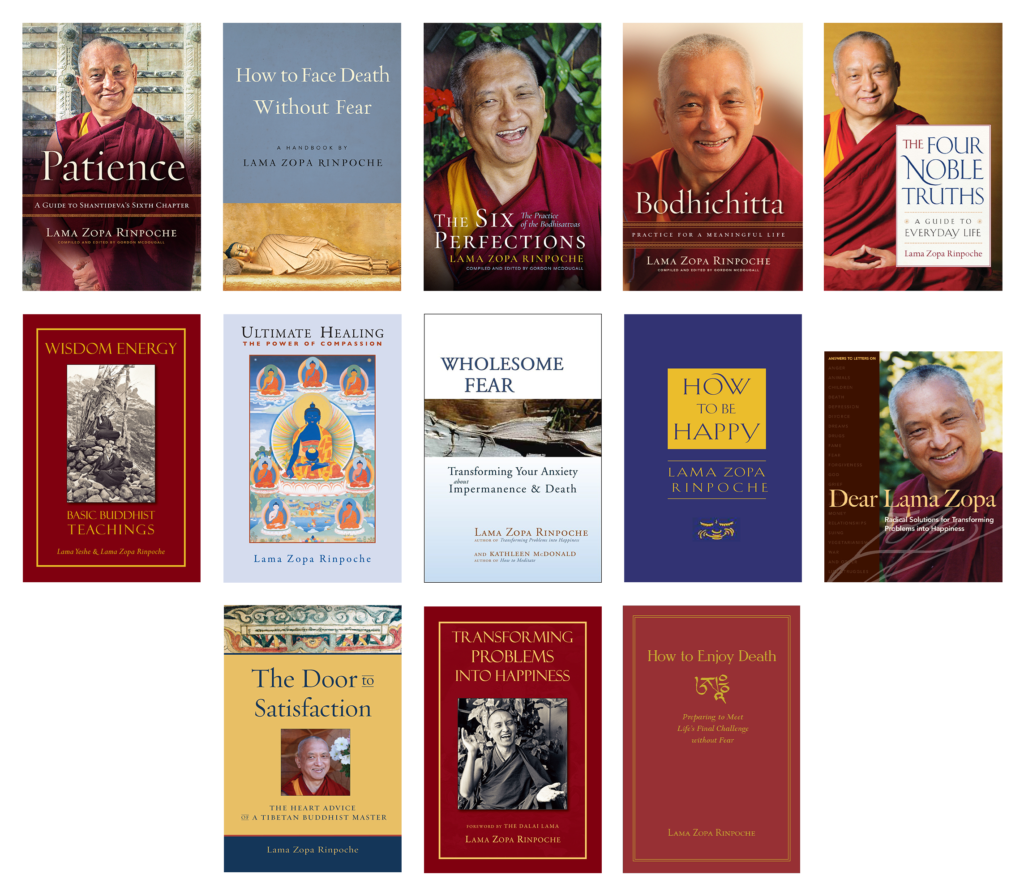 Lama Zopa Front Covers Book Collection