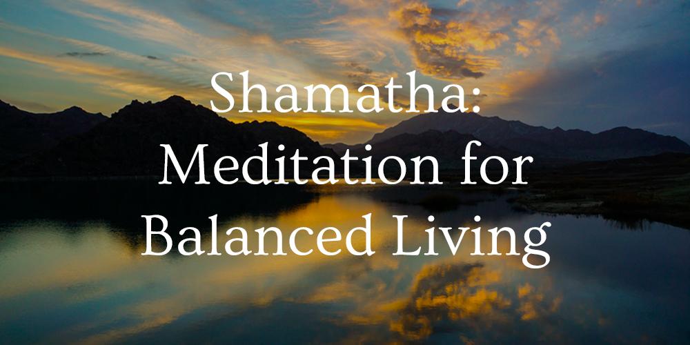 shamatha online course