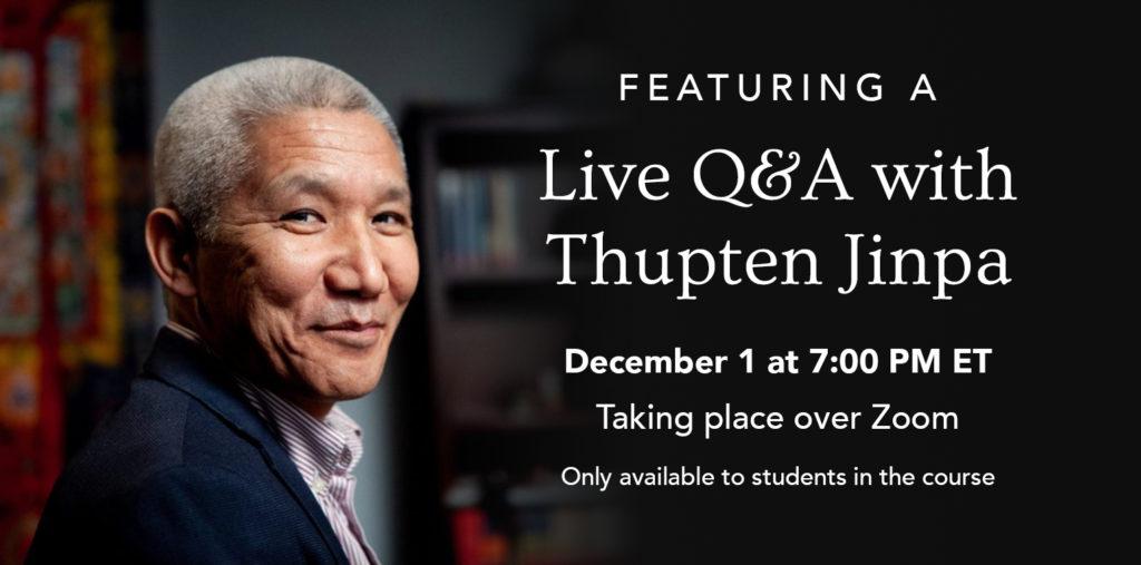 Thupten Jinpa Dalai Lama course